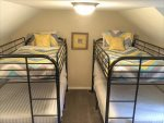 Bedroom 3, 2 twin over full bunk beds on 2nd floor
