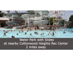 Water park at nearby Cottonwood Heights Recreation Center