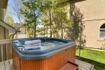 Relax in private hot tub after a long day on the slopes -