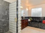Full wet bar with mini fridge, microwave, basement recreation room