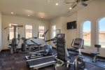 Clubhouse fitness room with equipment