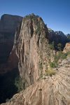Hike infamous Angel`s Landing at Zion National Park