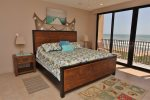 The Master Bedroom Features a King Size Bed