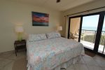 The Master Bedroom Features A  Bamboo Canopied King Size Bed