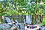 Ocoee River cabin rentals- campfire fit under the stars