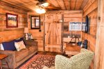 Ocoee River cabin rentals- flat screen tv with satellite