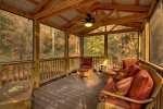 A View of the Creek- Blue Ridge cabin rentals- Screened Porch