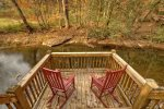 A View of the Creek- Blue Ridge cabin rentals- Deck over water