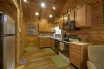 A View of the Creek- Blue Ridge cabin rentals-  Kitchen