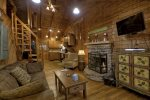 A View of the Creek- Blue Ridge cabin rentals- Living area