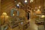 A View of the Creek- Blue Ridge cabin rentals- Living area alt view