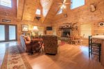 Adams Cove- Ocoee River Cabin Rental-living room