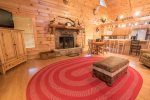 Adams Cove- Ocoee River Cabin Rental- living room