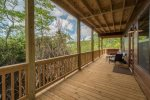 Dogwood Dream-Blue Ridge Vacation Rentals- Downstairs patio