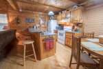 HOOKERS HIDEAWAY BLUE RIDGE CABIN RENTAL KITCHEN