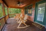 HOOKERS HIDEAWAY BLUE RIDGE CABIN RENTAL DECK