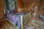 HOOKERS HIDEAWAY BLUE RIDGE CABIN RENTAL MASTER BEDROOM