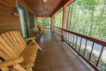 HOOKERS HIDEAWAY OCOEE RIVER CABIN RENTAL PORCH