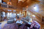 Dream Catcher- Blue Ridge-Living Room- Aerial View