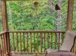 Holly Hill Ocoee River area cabin rental- balcony