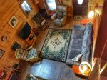 Holly Hill Ocoee River area cabin rental- living room aerial view
