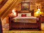 Holly Hill Ocoee River area cabin rental- master bed