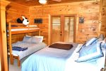 Snuggled Inn- Blue Ridge Cabin Rental- Bedroom 2