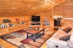 Snuggled Inn- Blue Ridge Cabin Rental- Lower Level Bedrrom
