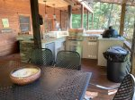 Snuggled Inn- Blue Ridge Cabin Rental- Outdoor Kitchen