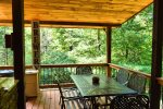 Snuggled Inn- Blue Ridge Cabin Rental- Outdoor Dining