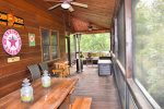 Snuggled Inn- Blue Ridge Cabin Rental- Screened Porch