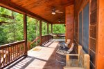 Snuggled Inn- Blue Ridge Cabin Rental- Porch