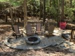 Snuggled Inn- Blue Ridge Cabin Rental- Firepit