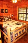 Bear Pause- Blue Ridge Cabin Rentals- Bedroom