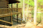Bear Pause- Blue Ridge Cabin Rentals- Creek Front