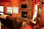 Bear Pause- Blue Ridge Cabin Rentals- Living Room