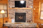Bear Pause- Blue Ridge Cabin Rentals- Fireplace