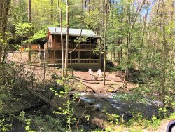 Bear Pause- Hot Tub- Creek Front- Wifi- Pet Friendly