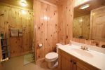 Dew Drop Inn- Blue Ridge- Lower Level Bathroom