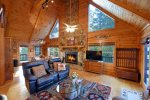 Dew Drop Inn- Blue Ridge-Living Room