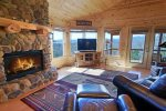 Mountain View Lodge-Blue Ridge Cabin Rentals- Living Room