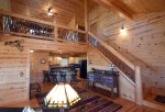 Mountain View Lodge-Blue Ridge Cabin Rentals- Stair case