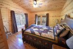 Mountain View Lodge-Blue Ridge Cabin Rentals- Master Bed