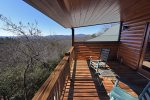 Mountain View Lodge-Blue Ridge Cabin Rentals- Master Balcony View