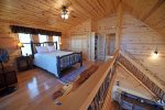 Mountain View Lodge-Blue Ridge Cabin Rentals- Loft Bed 1