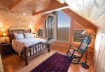 Mountain View Lodge-Blue Ridge Cabin Rentals- Loft Bed 2