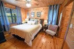 Knotty Pine Cabin Master Bedroom