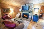 Knotty Pine Cabin Living Room