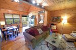 Knotty Pine Cabin Living area
