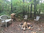 Blue Ridge Cabin Rentals-Campfire by the creek